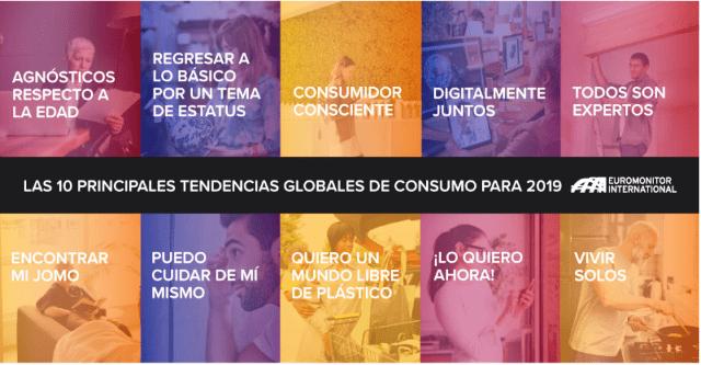 Diez principales tendencias globales de consumo para 2019