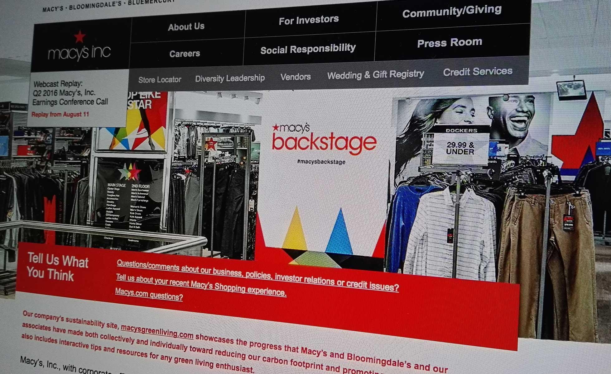 11174552Macys Inc Cierre Tiendas - Macy's anunció el cierre de 11 tiendas y el despido de 5 mil empleados