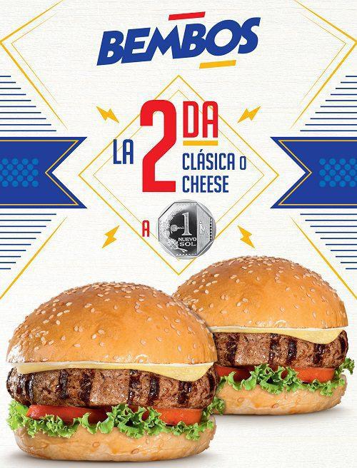 2da.por1sol - Bembos extiende campaña de su segunda hamburguesa a 1 sol hasta febrero