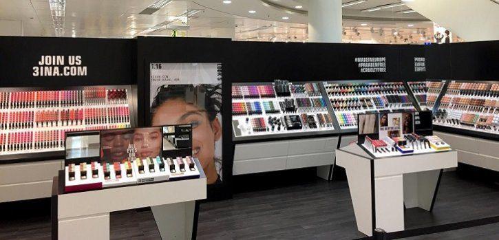 3INA corner - Marca de cosméticos 3INA abre su primera tienda en Latinoamérica