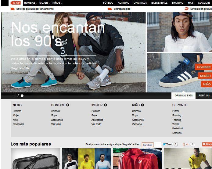 Adidas online1 - Perú: Adidas se renueva y abre tienda en La Rambla de San Borja