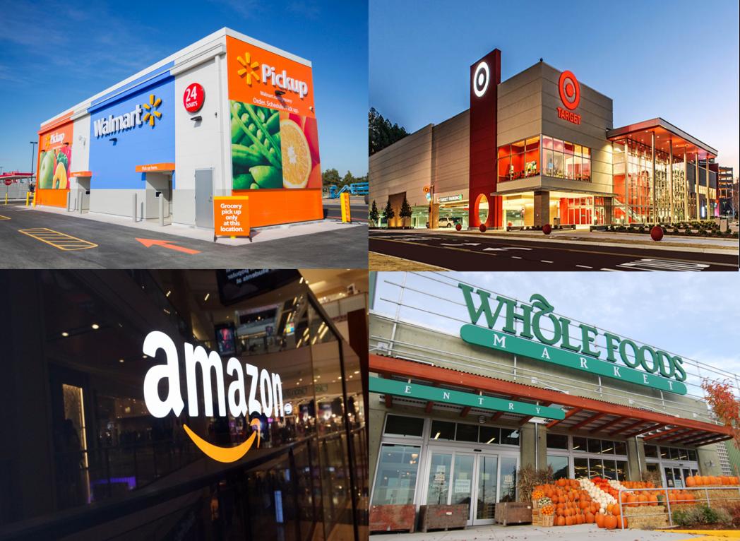 Amazon, Walmart, Target