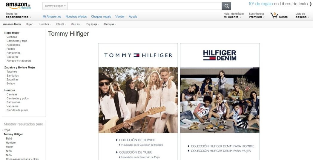 Amazon amplía su oferta de moda con ingreso de Tommy Hilfiger  - Amazon amplía su oferta de moda con ingreso de Tommy Hilfiger
