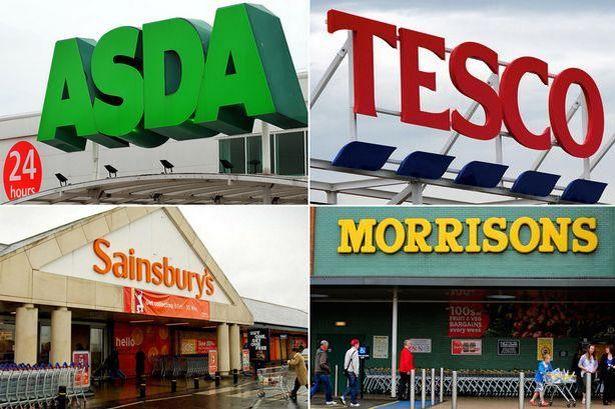 Asda Tesco Sainsburys Morrisons uk2 - Asda reportó su primer aumento trimestral de ventas luego de tres años
