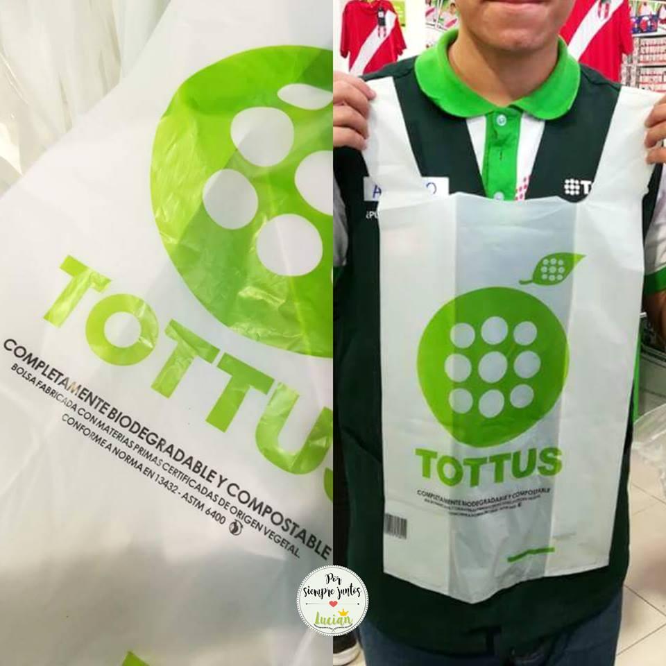 BOLSA de maiz tottus - No solo es Tottus, conoce las tiendas que ofrecen bolsas biodegradables