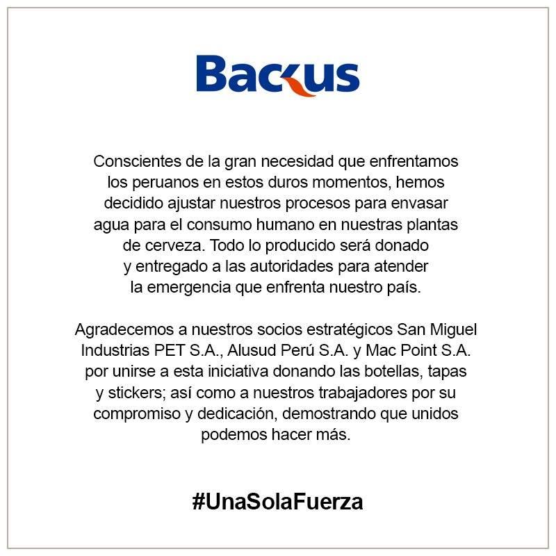 Backus - Conoce las marcas que están apoyando a los damnificados por los huaicos