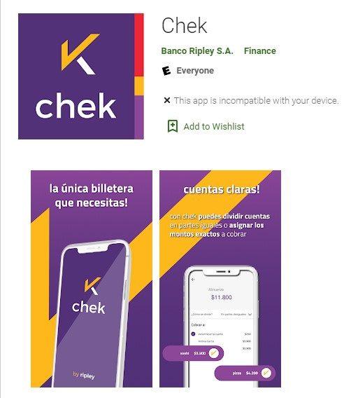 CHEK banco ripley