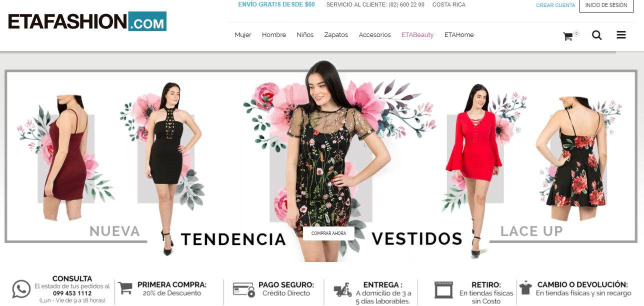 Captura etafashion - Etafashion presentó oficialmente su e-commerce en Ecuador