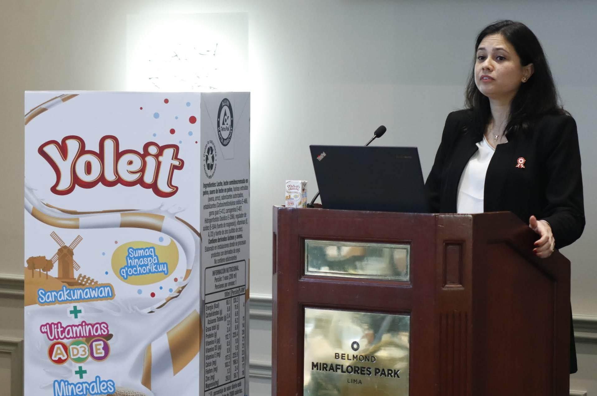 Claudia Flores Gerente de Marketing Lácteos de Andina Alimentos – Yoleit