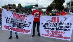 Comerciantes protestan por cuarentena y reforma tributaria