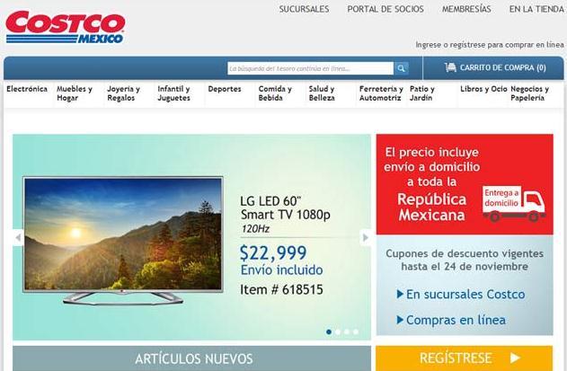 Costco prevé crecer 68% en sus ventas online en México el 2016
