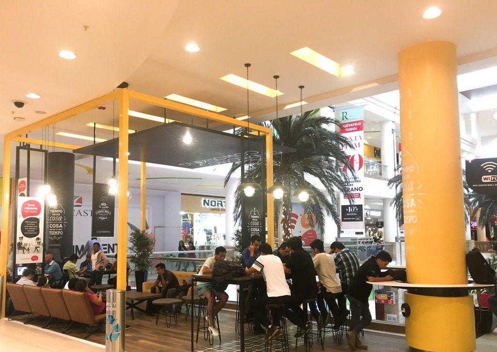 Coworking 1024x726 - Mall Aventura y Jockey Plaza implementan espacios de trabajo con Wifi gratis