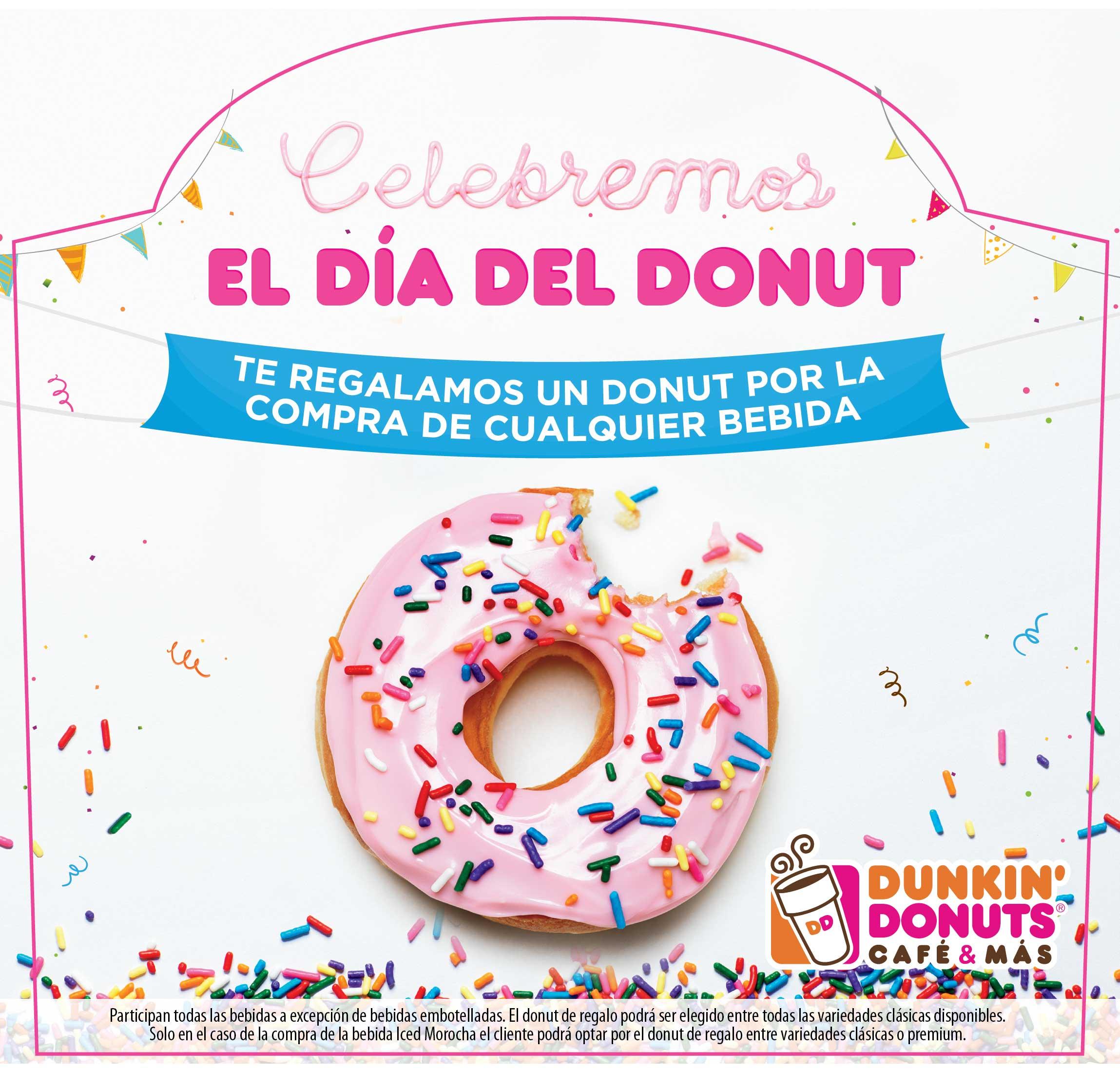 DIA DONUT - Dunkin' Donuts regalará donas hoy en todo el Perú