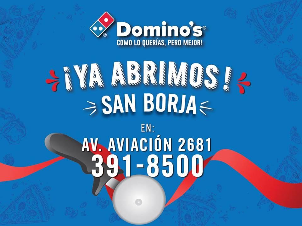 Dominos - Domino's Pizza abre local en San Borja y suma su sexto punto de venta en Perú