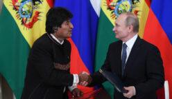Evo Morales y Putin Bolivia 248x144 - Millonarias inversiones rusas apuestan por proyectos en Bolivia