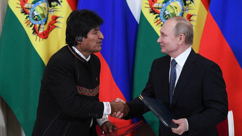 Evo Morales y Putin Bolivia - Millonarias inversiones rusas apuestan por proyectos en Bolivia