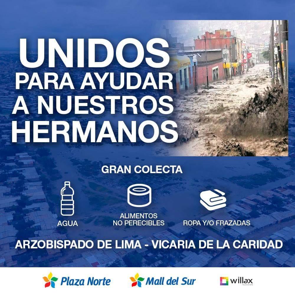 FB IMG 1489852371317 - Centros comerciales reciben donaciones para damnificados de huaicos