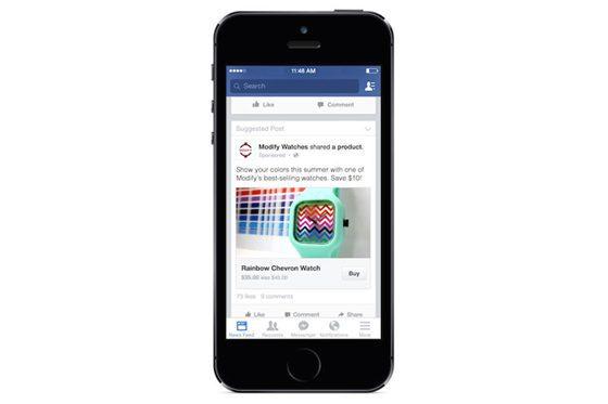 Facebook explora funciones de compra en app para móvil