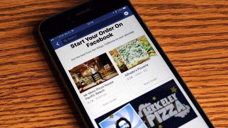 Facebook pedidos a domicilio