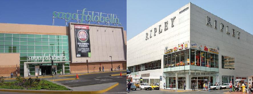 Factores que debilitan ventas de Saga Falabella y Ripley en el Perú
