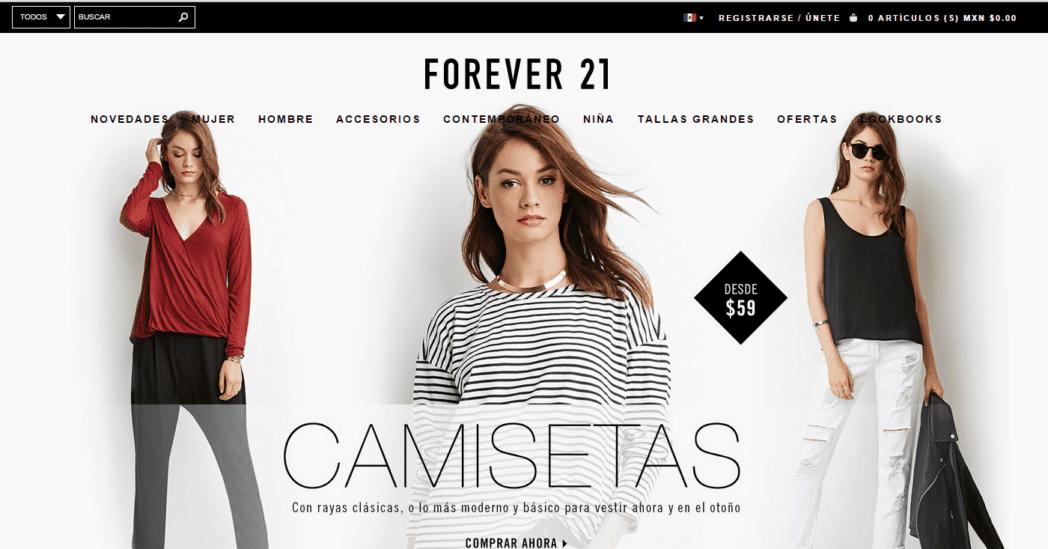 Forever 21 tienda online mexico