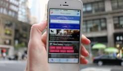 Foursquare aplicación conteo de tiendas