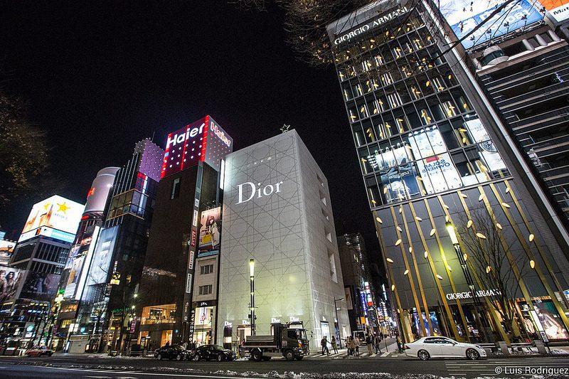 Ginza en Tokio - Conoce las calles donde se impone el visual merchandising