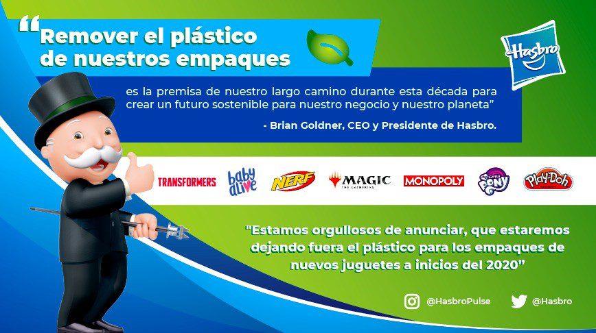 HASBRO - Hasbro dejará de usar empaques de plástico en 2020