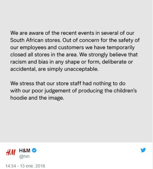 HM 1 - Publicidad racista obliga a H&M a cerrar sus tiendas en Sudáfrica