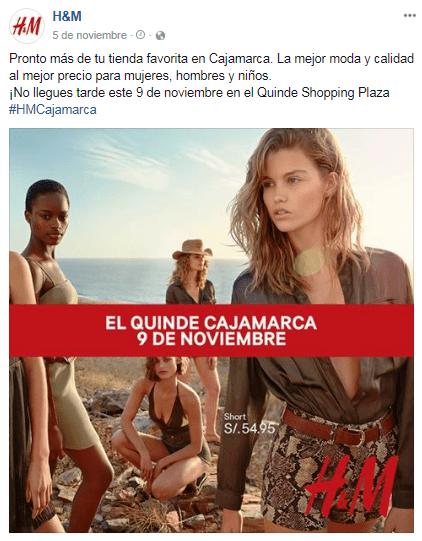 HM Cajamarca - H&M abrió su octava tienda en Perú