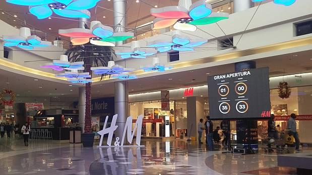 HM Plaza Norte1 - H&M facturó US$ 28.2 millones con sus seis tiendas en Perú
