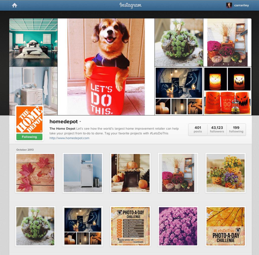 Home Depot on Instagram  1024x1010 - ¿Por qué Home Depot e Instagram consideran que las fotos revolucionarán el sector retail?