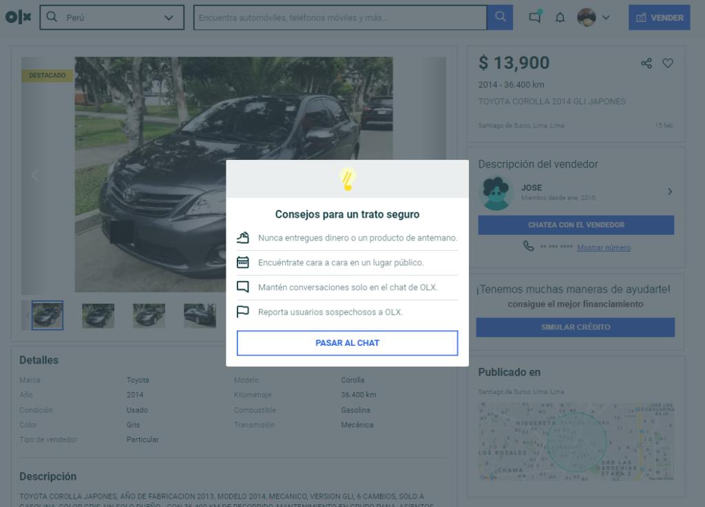 """Imagen OLX Perú Cars 3 Seguridad 3 1024x736 - OLX Perú: """"Se transaccionó más de US$400 millones en compra y venta de vehículos en 2019"""""""