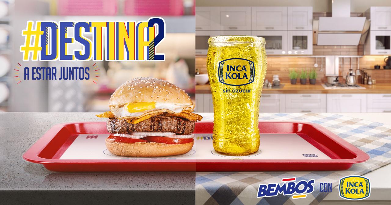 Inca Kola y Bembos - Inca Kola se une con Bembos para vender bebidas sin azúcar