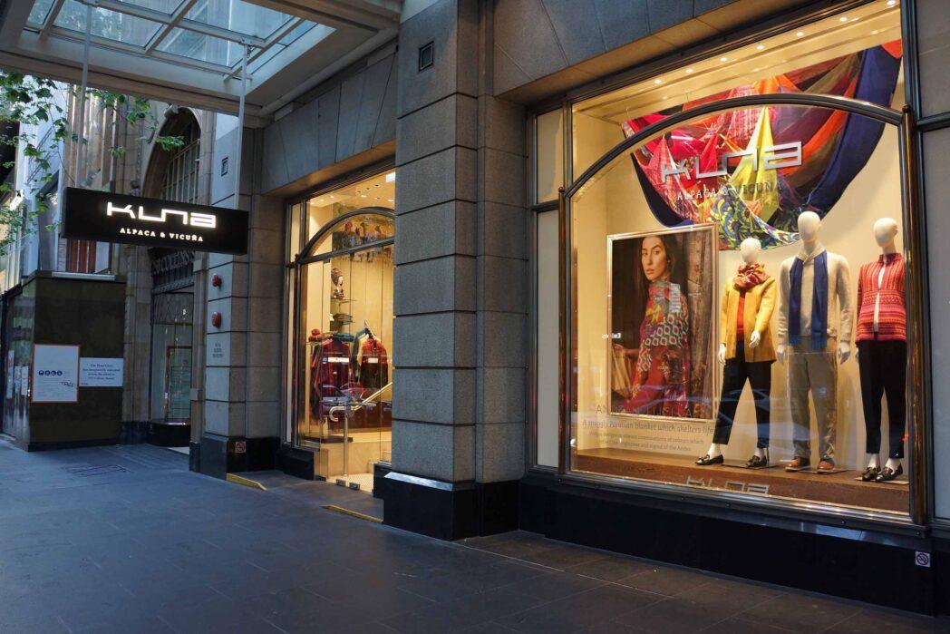 KUNA Melbourne principal - Kuna, la marca de prendas de alpaca y vicuña inaugura nueva tienda en Australia