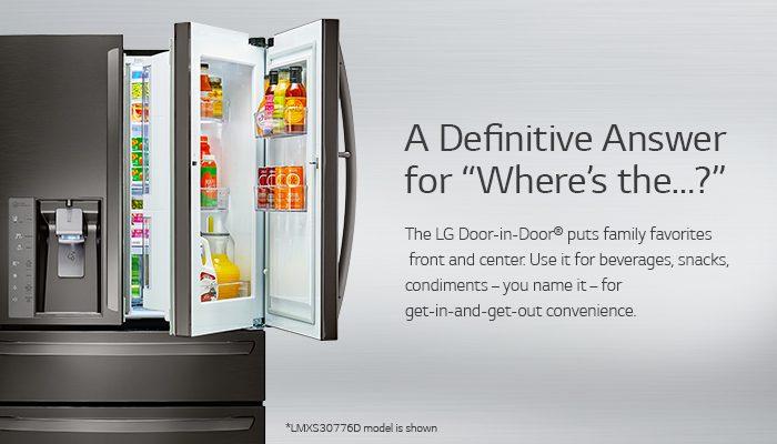 LG Door in Door Refrigerator Definitive Answer Black Stainless Steel NEW - Tecnología de LG permite enfriar 35% más rápido que un refrigerador convencional