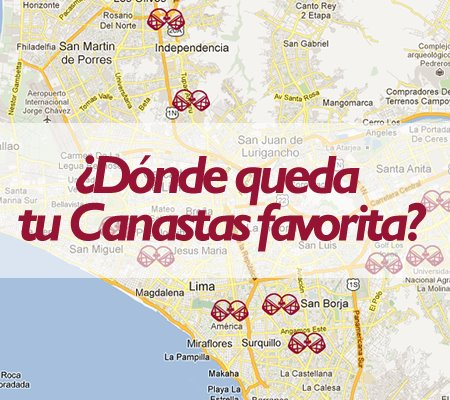 Las Canastas map