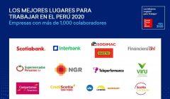 Los mejores lugares para trabajar en el Perú - 2020