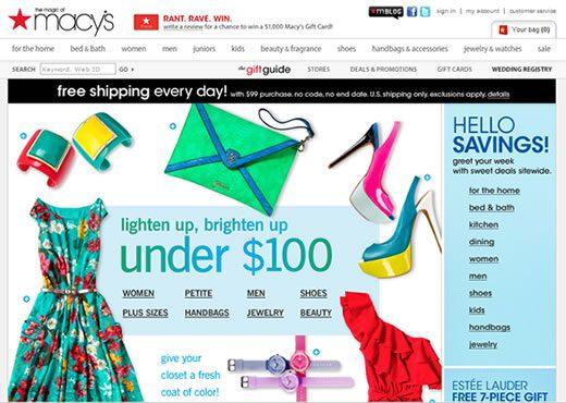 Macys apuesta al mercado online