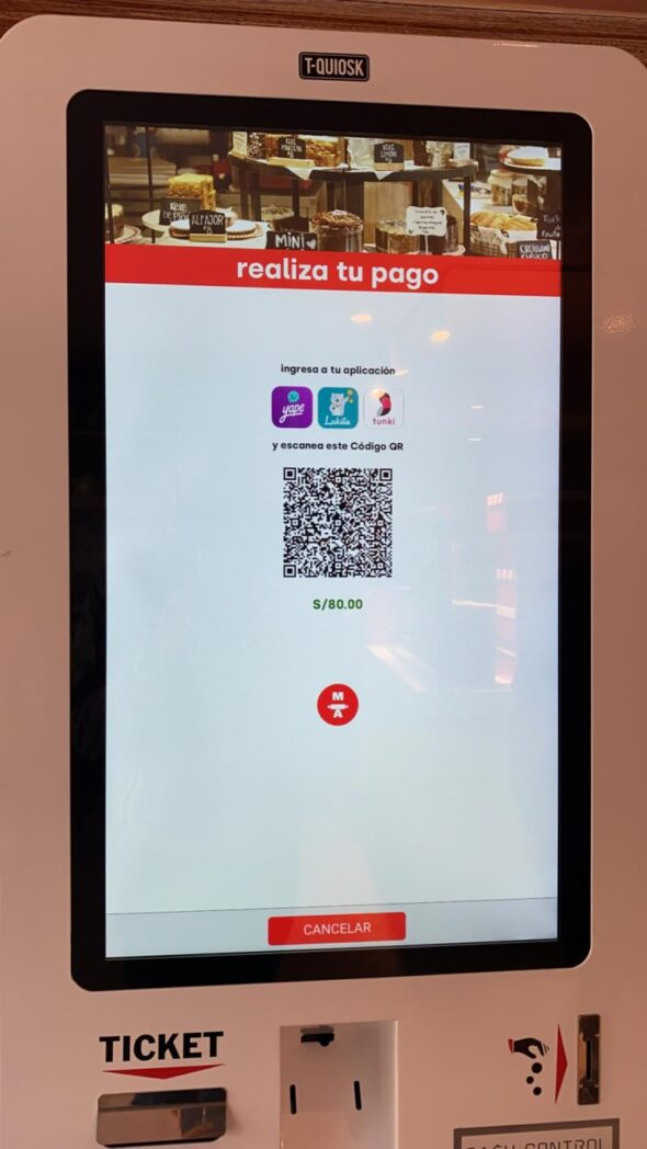 María Almenara digital - Perú: María Almenara presenta kiosko digital para pagar sus pedidos con código QR