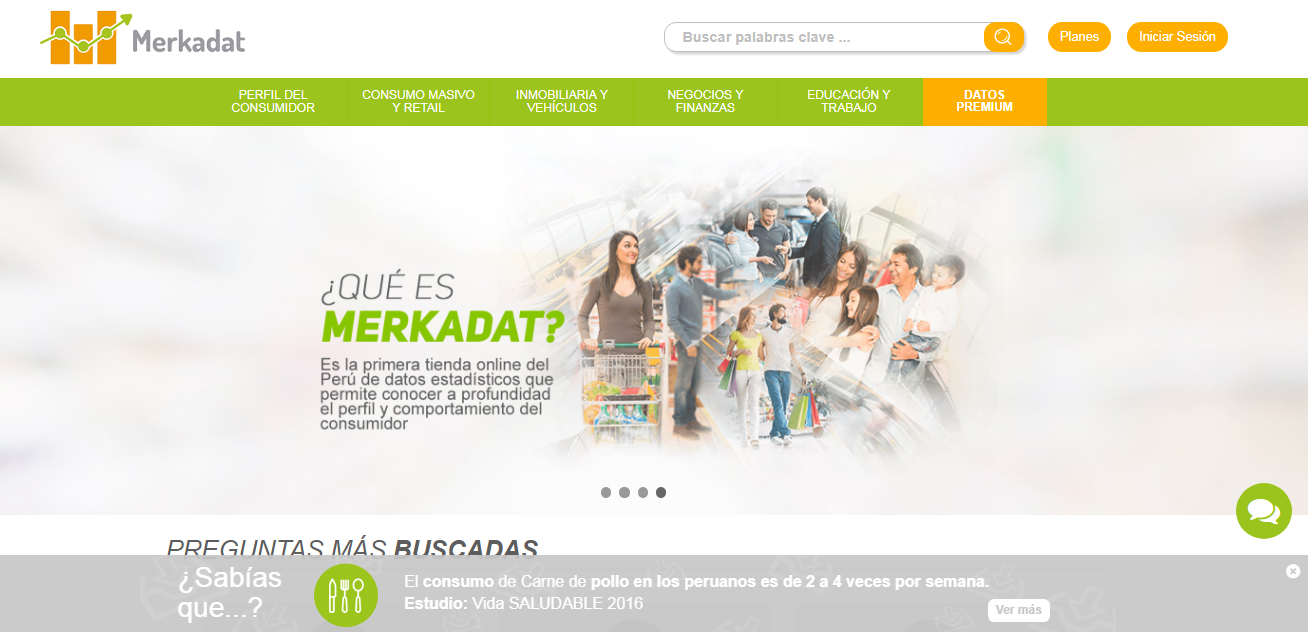 Merkadat 1 - Conozca el primer e-commerce peruano de datos estadísticos