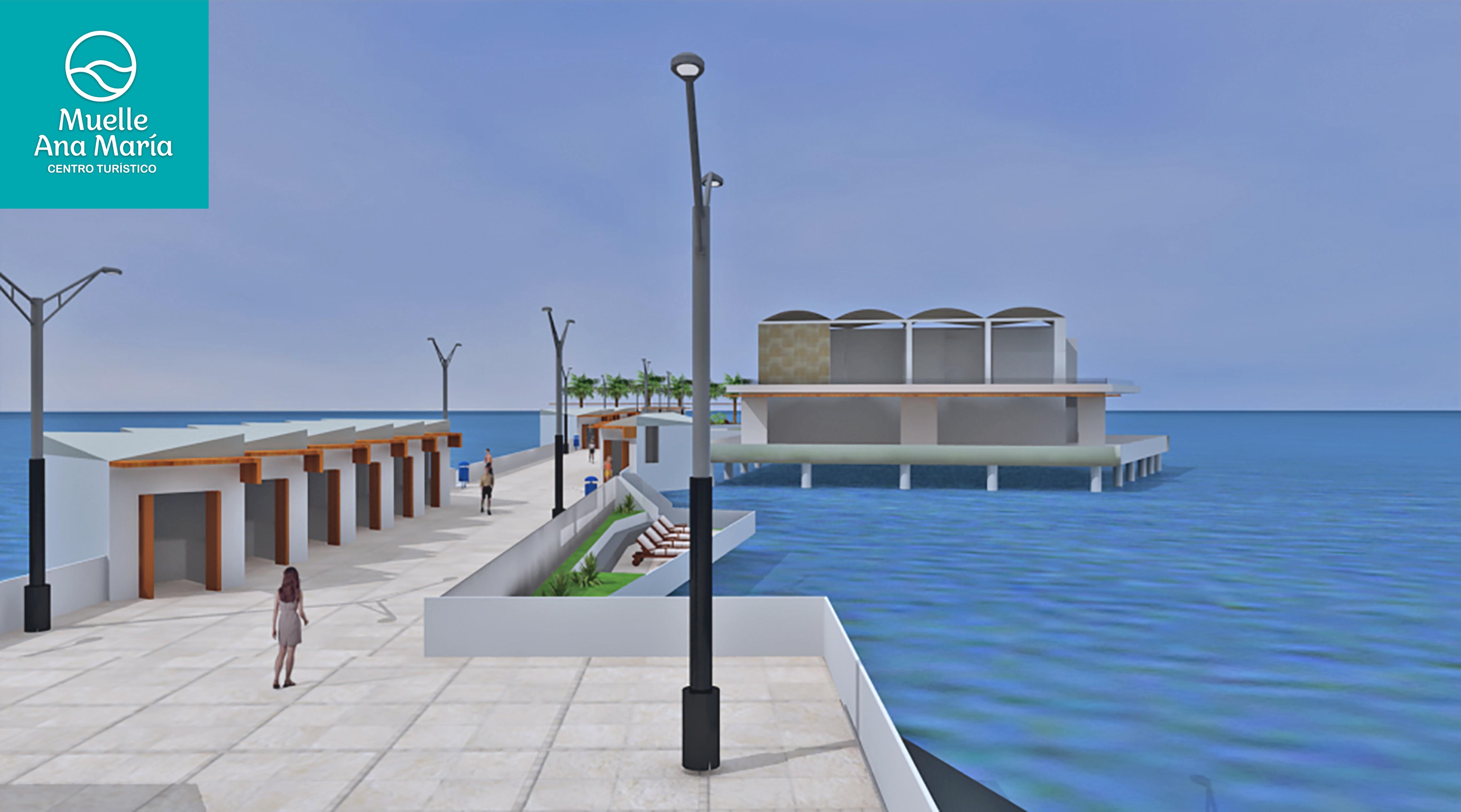 Muelle Ana María - Invertirán US$ 8 millones para construir centro turístico en Costa Verde de Barranco