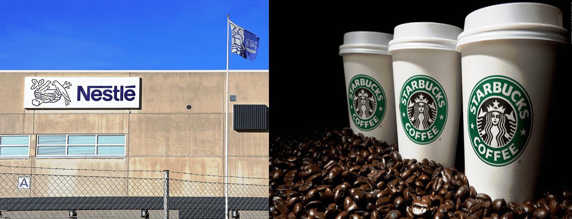 Nestlé y Starbucks - Nestlé pagará US$7.150 millones por derechos para vender productos de Starbucks