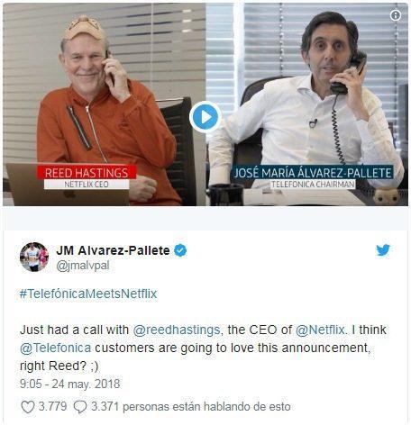 Netflix Telefónica 2 - Telefónica integrará a Netflix dentro de su plataforma desde fines del 2018