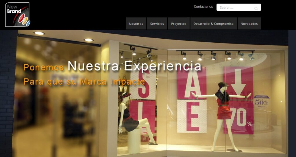 New Brand web