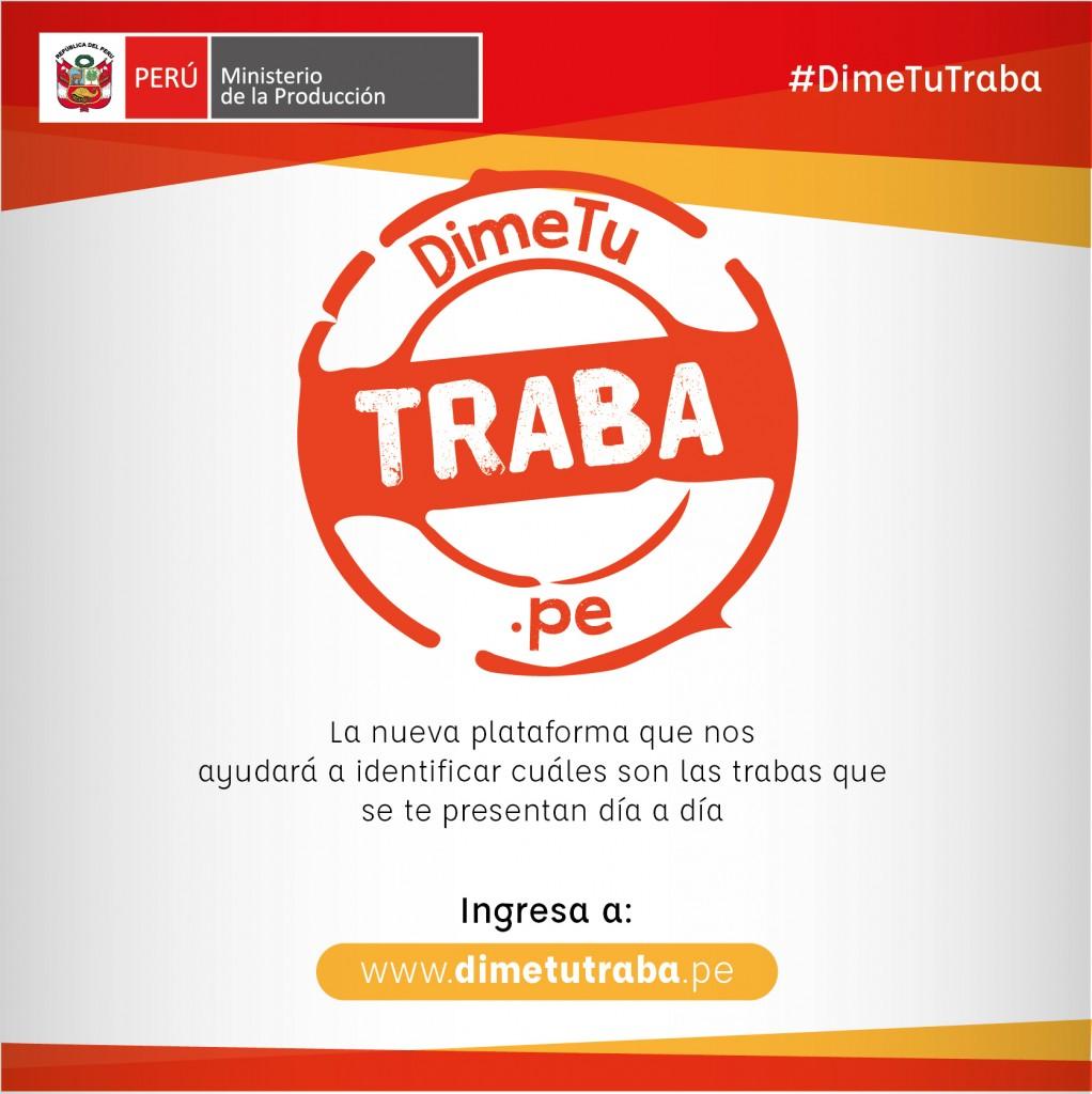 POST DIME TU TRABA 1022x1024 - PRODUCE lanza portal para identificar trabas burocráticas en el sector público