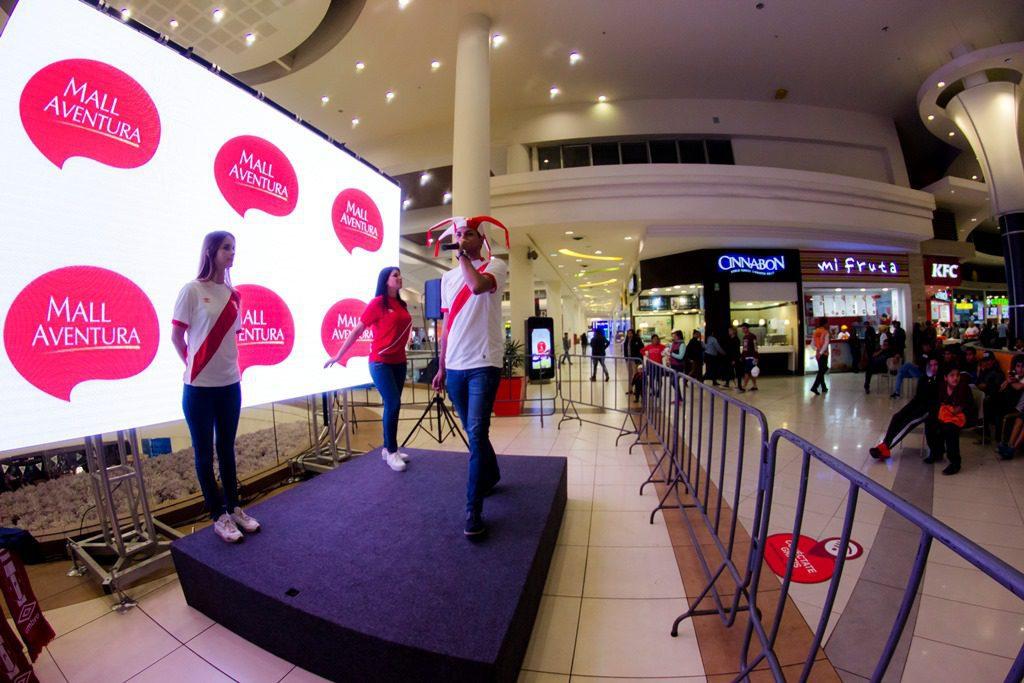 Pantallas 2 1 - Mall Aventura Santa Anita instalará pantalla gigante para ver el partido Perú – Islandia