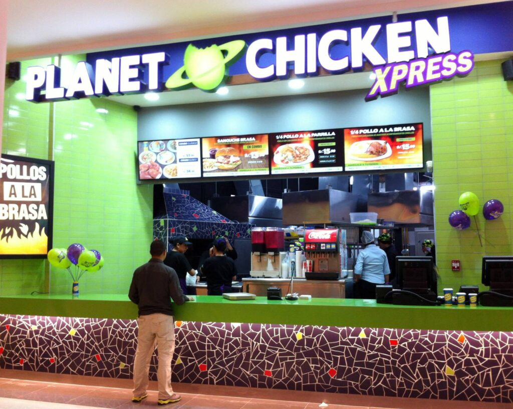 Planet chicken 2 cc real plaza salaverry