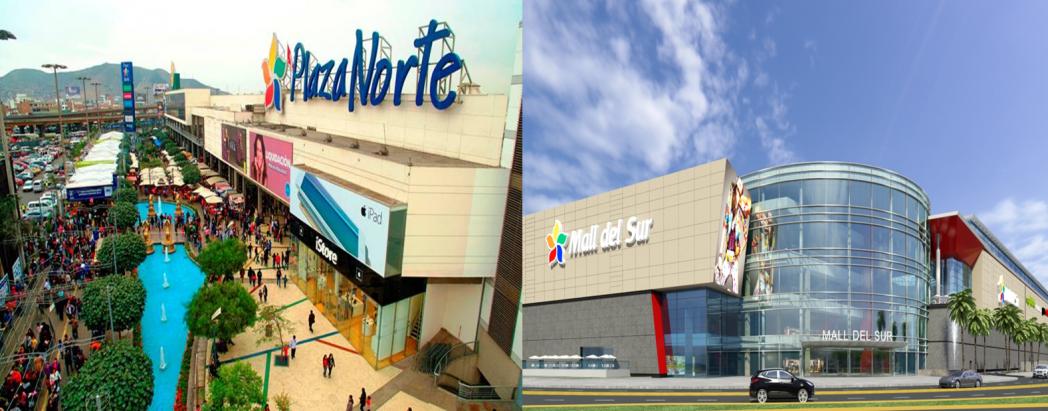 Plaza Norte y Mall del Sur