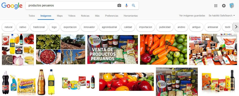 Productos peruanos Google